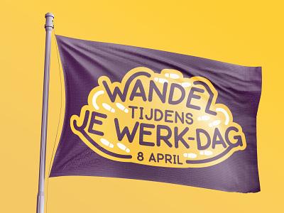 WTJW purple yellow campaign logo design