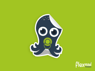 Octobaby 🐙 green cute mascotte octopus