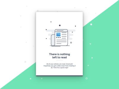 No articles left 📰 secret clean news articles illustration design empty states