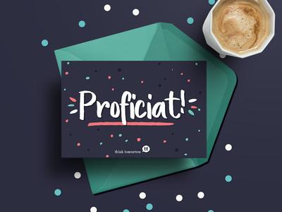 Greeting Card 📭 colorful confetti celebrate card