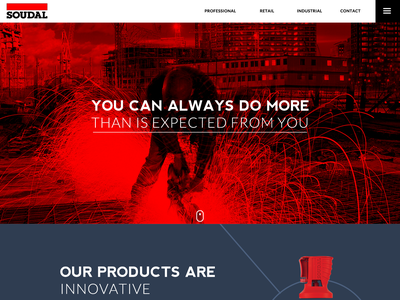 Soudal Redesign 🥊 homepage products website redesign design