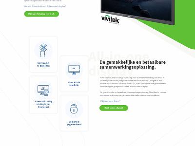Vivitek® NovoTouch. ui onepager touchscreen design agency landingspage design