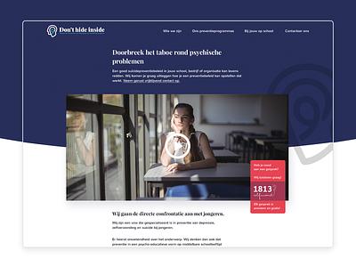 Don't Hide Inside 🤘 concept branding and identity webdesign design non-profit organization non-profit logo branding suicide taboo