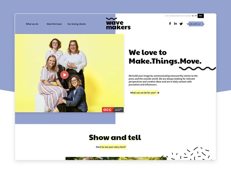 Wavemakers 🌊 agency public relations influencer marketing redesign rebranding proposal design