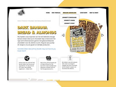 Johnny Doodle 🍫 design webdesign branding chocolate bar chocolate