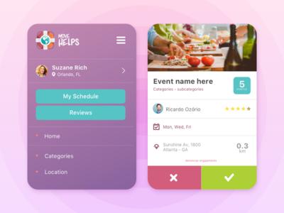 App: Menu and Event