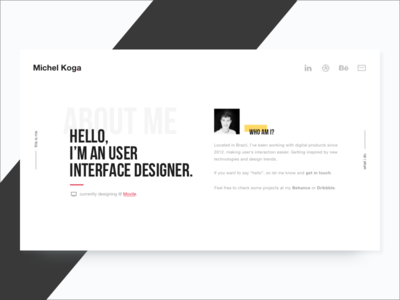 Personal Website clean portfolio resume skills interface ux ui personal website site