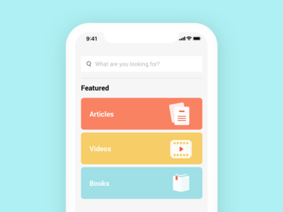Search Screen business courses featured colour icons search mobile app