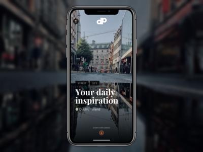 Photography App city ux dark ui inspiration gallery photography photo street interface mobile app