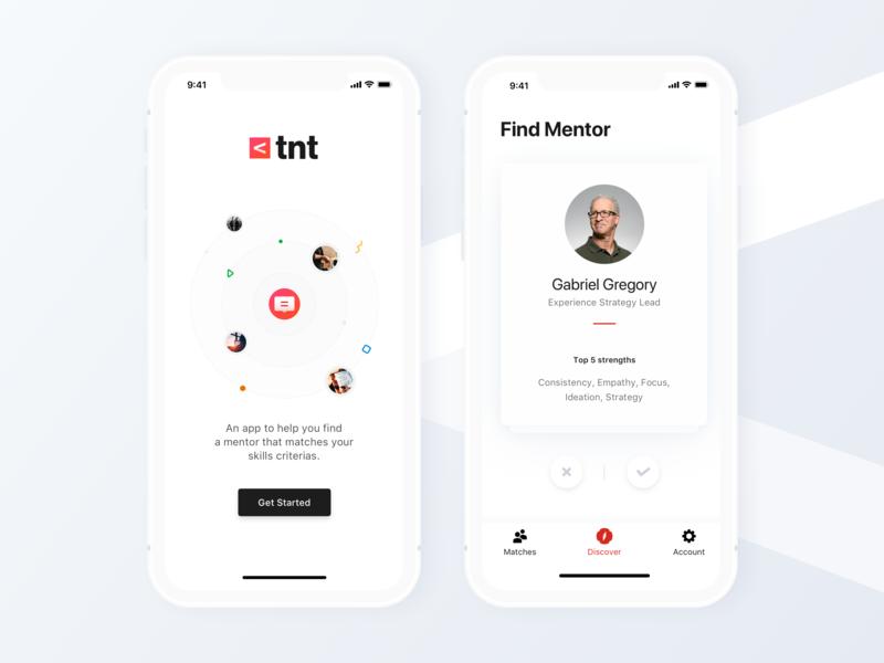 Find Mentor Mobile App icon brand design color user interface ux application mobile ui app