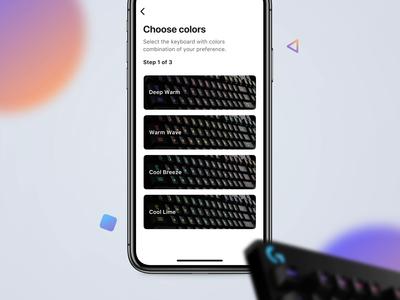Choose Interaction animation vector interaction design principle color interface mobile ui app