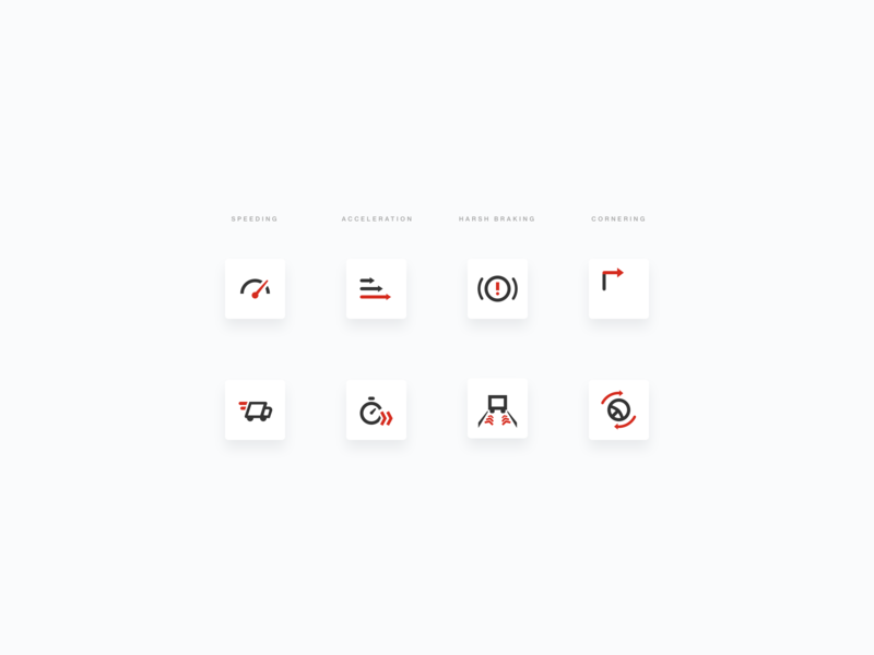 Driving Icons acceleration speeding outline testing driving ui icons