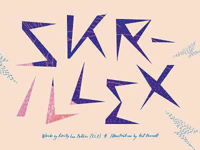 triple j Annual — Skrillex Heading handmade type typography type skrillex magazine layout illustrative graphic design expressive art direction