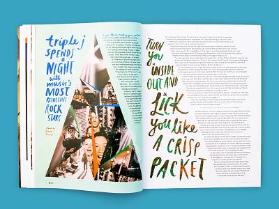 triple j Annual — alt J music typography type magazine layout illustrative hand lettering graphic design expressive design art direction alt-j
