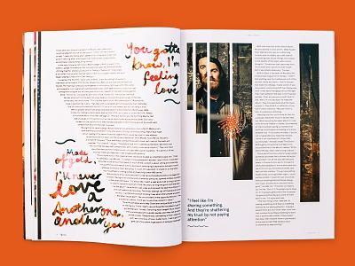 triple j Annual — Chet Faker hand lettering graphic design publishing expressive art direction chet faker