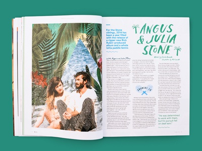 triple j Annual — Angus & Julia Stone spot illustration collage illustrative brush lettering hand lettering graphic design expressive art direction angus and julia stone