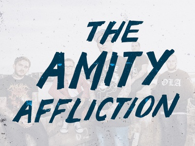 triple j Annual — The Amity Affliction lettering typography type music magazine hand lettering graphic design expressive design amity affliction