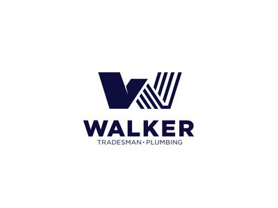 Walker Logo brand logo texas pipes roof w plumbing walker tradesman