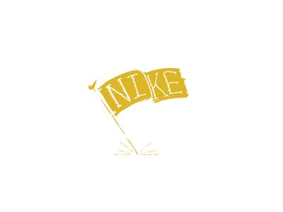 Nike Flag texture hand drawn custom type hand lettering just do it run flag nike