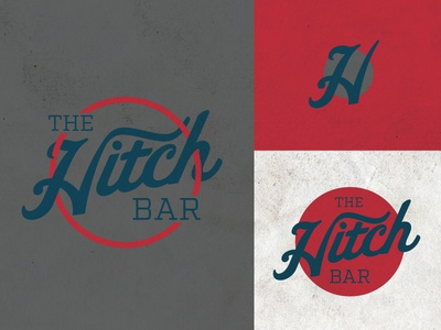 The Hitch Bar texture typography hitched design logo bar