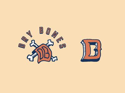Dry Bones dallas design bones monogram logo dry bones b d db towel