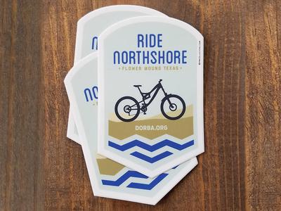 Ride Northshore badge outdoors texas north shore mountain bike stickers dorba