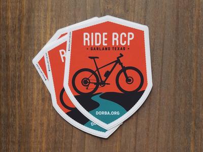 Ride RCP badge outdoors texas north shore mountain bike stickers dorba design dallas