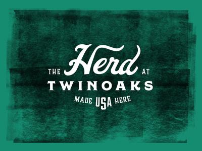 The Herd dallas patch texas vector branding typogaphy type typography logo