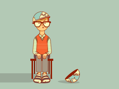 Look at my white socks! Look at them! globe flat glasses illustration character esri