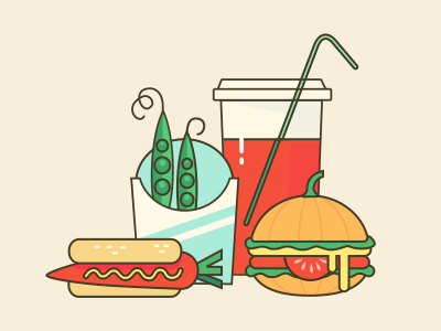Ok Google, how many vegetarians are in America? vegetables google illustration food fastfood