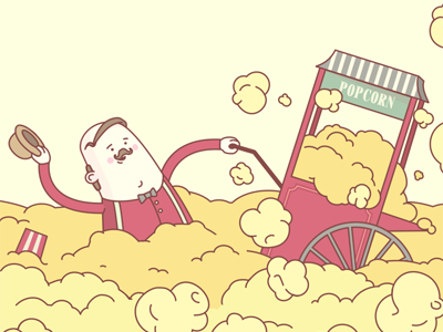 Ok Google, how much popcorn do Americans consume in a year?  google popcorn illustration