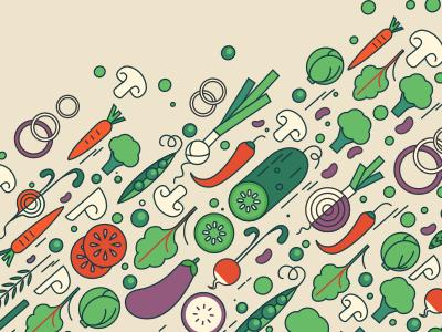 Ok Google, how many vegetarians are in America? illustration popcorn food health flat google vegetarian vegetables pattern