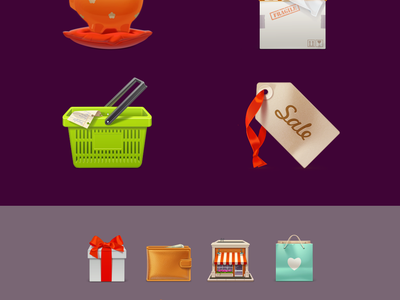 Free eCommerce Icon Set  icon free icons set box gift bow shop wallet shopping cart sale label bag