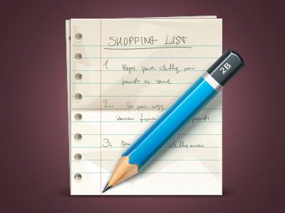 Shopping List shopping list pencil icon icons paper