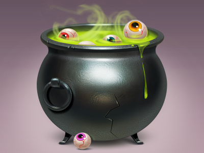 Halloween cauldron free icon halloween eyes metal magic freebies