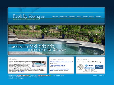 Pools By Young ui design ux design
