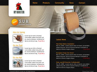 NY Rooster ui design ux design