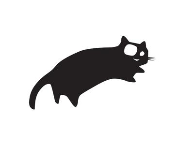 Black Cat black cat logo cat black