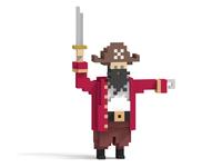 3D Pixel Pirate Captain