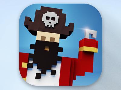 Pirate game icon blender magicavoxel pirate game icon