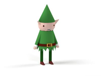 Christmas Elf blender 3d christmas elf