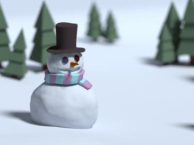 Snowman blender snowman
