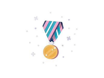 Achievement achievement rounded icon ribbon gold prize medal