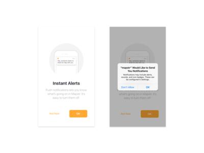 iOS - Notifications Permission alert permission notification ios mapstr