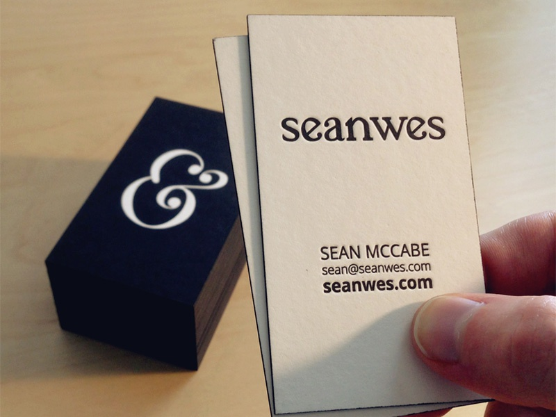 Seanwes post duplexed letterpressed cards by sean mccabe dribbble business cards black edge painting reheart Choice Image