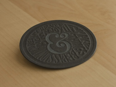 Limited Edition Letterpress Coaster