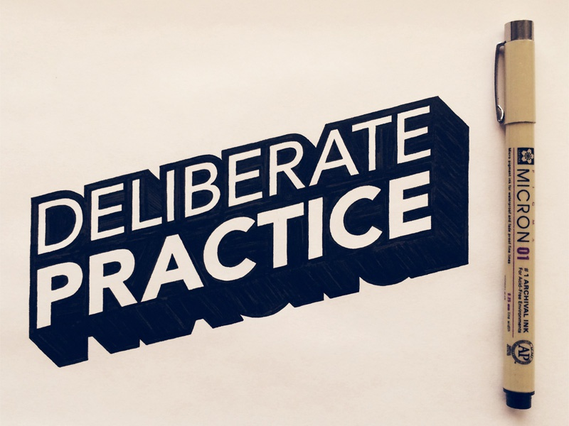Deliberate Practice lettering hand lettering typography