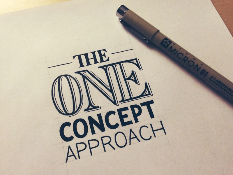 The One Concept Approach: How a Professional Designs A Logo lettering hand lettering typography logo design professionalism