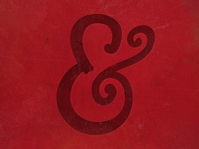 Hand Drawn Ampersand iPhone Wallpaper ampersand illustration hand-drawn texture red watercolor wallpaper iphone retina typography lettering