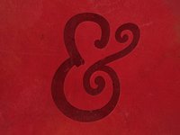 Hand Drawn Ampersand iPhone Wallpaper